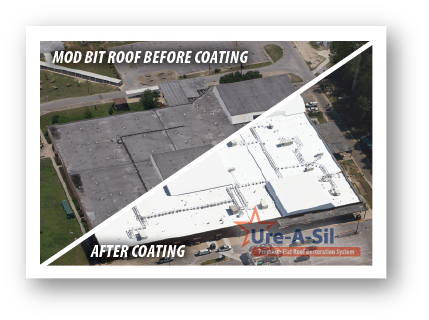 AWS Flat Roof Restoration Before and After Image